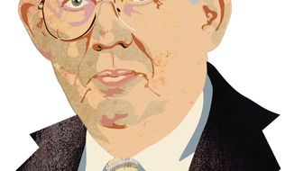 Illustration: William Niskansen by Greg Groesch for The Washington Times