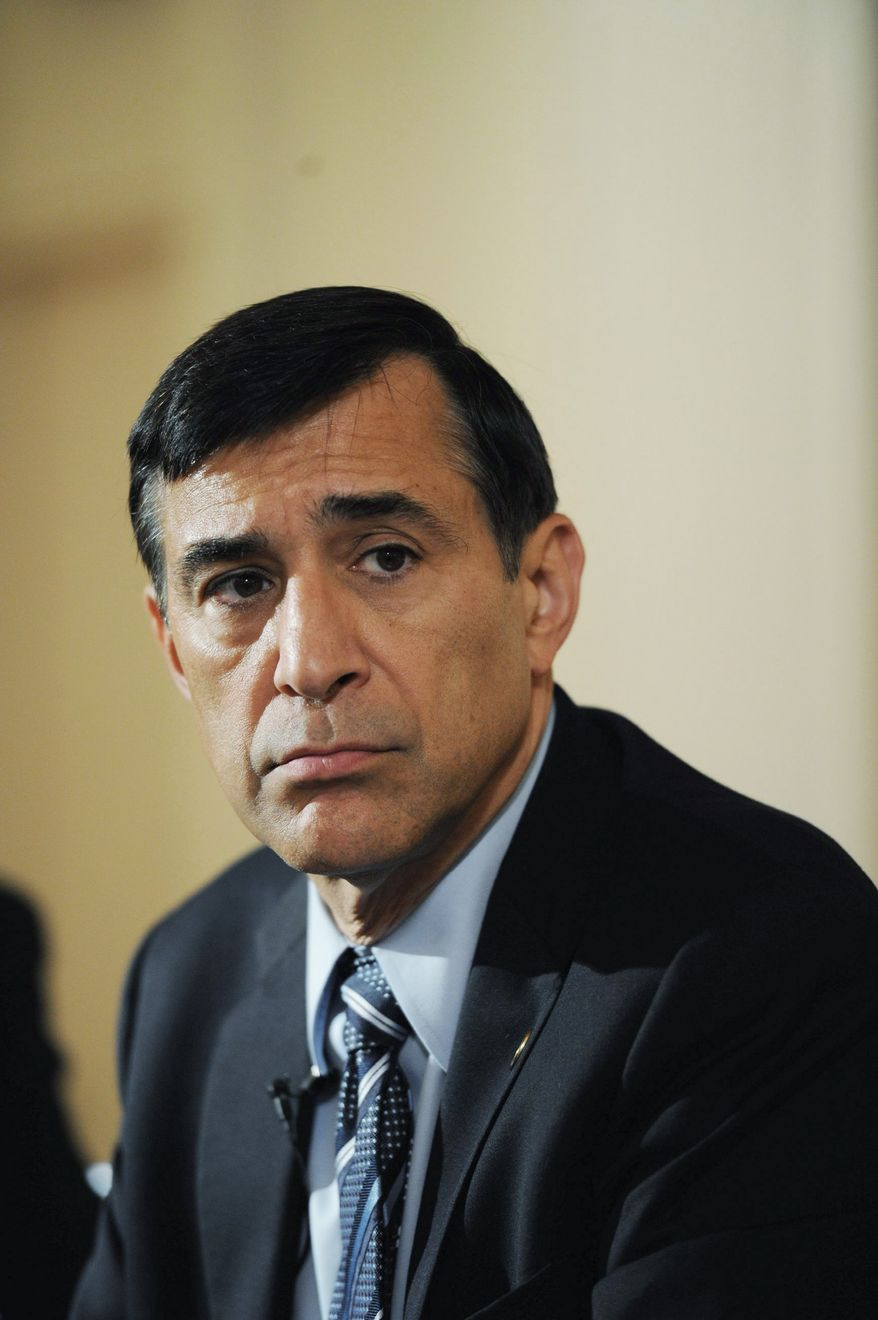 Rep. Darrell E. Issa, California Republican, introduced the D.C. Employee Suitability Act of 2011 on Monday. It will get its first hearing Thursday. (Rod Lamkey Jr./The Washington Times)