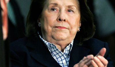 Dorothy Rodham, mother of Secretary of State Hillary Rodham Clinton, died Tuesday at 92. Mrs. Clinton canceled an overseas trip to be at her side. (Associated Press)