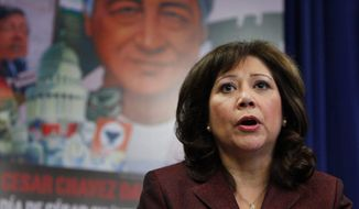 """We don't have to sit back and allow a minority in the Congress, known as the tea party, to dominate the discussion in our households,"" Labor Secretary Hilda L. Solis recently said."