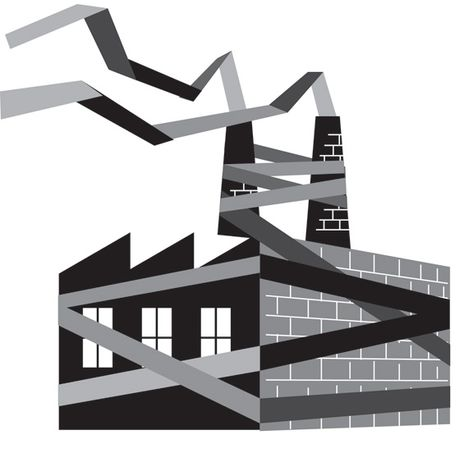 Illustration: Red tape by Linas Garsys for The Washington Times