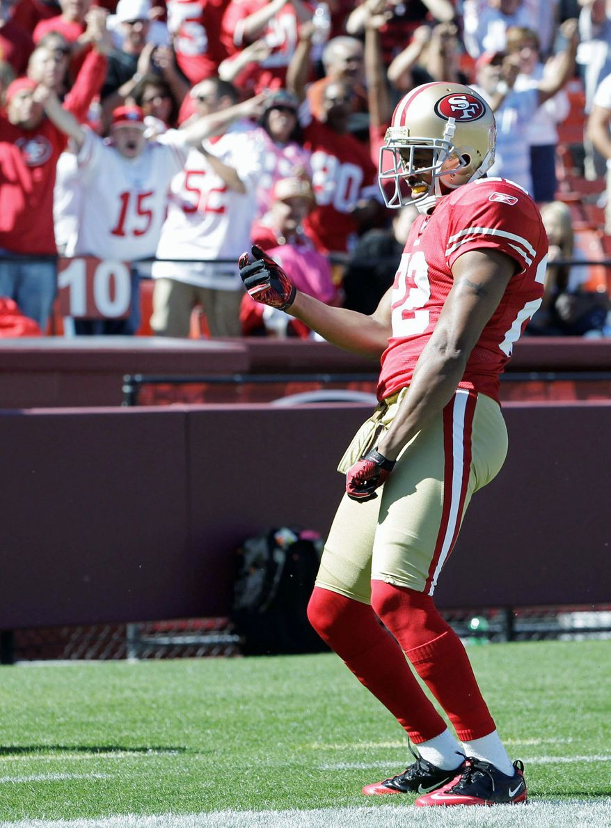 Cornerback Carlos Rogers has three interceptions in his first season with San Francisco. He had eight in six seasons with Washington. (Associated Press)