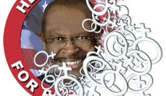 Illustration: Herman Cain by John Camejo for The Washington Times