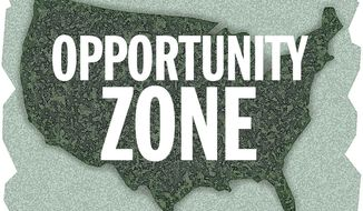 Illustration: Opportunity zone by Alexander Hunter for The Washington Times