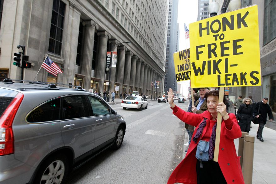WikiLeaks hasn't been forgotten amid the pandemonium of Occupy protests. As people take to the streets to speak out against financial institutions, the anti-secrecy website is fighting a battle of its own against MasterCard, Visa and others that have blocked donations. (Associated Press)