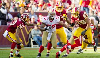 Rookie running back Roy Helu's 14 receptions eclipsed the Redskins record held by Hall of Famer Art Monk. His catches totaled 105 yards. (Andrew Harnik/The Washington Times)