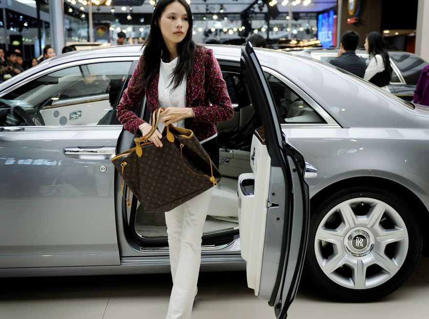 HOT WHEELS: European car companies seem to be winning the race for well-to-do customers in China. The country and its free-spending new rich have made it a key growth market for makers of luxury goods. (Associated Press)