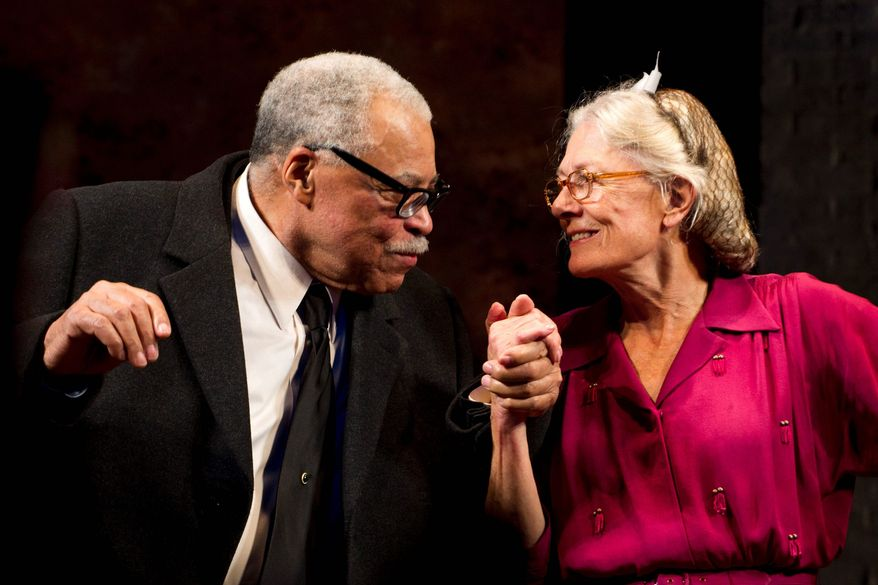 "James Earl Jones and Vanessa Redgrave, co-stars in a London stage production of ""Driving Miss Daisy,"" will both be honored by the film academy this weekend. (Associated Press)"