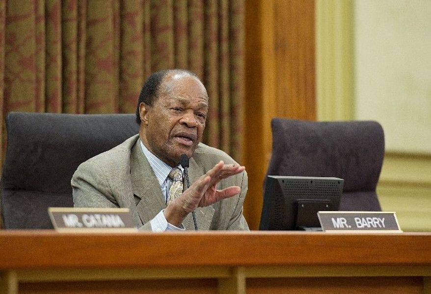 Then-D.C. Council member Marion Barry (Barbara L. Salisbury/The Washington Times) ** FILE **
