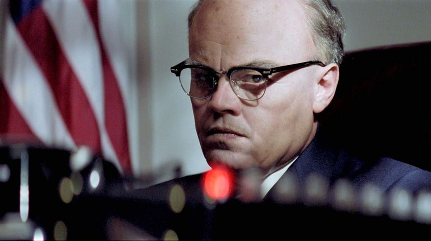 "Director Clint Eastwood's take on FBI Director J. Edgar Hoover, played by Leonardo DiCaprio, is humanizing and balanced. The story is ""told"" to viewers by an old Hoover dictating his life story to young FBI stenographers. Naomi Watts (below) portrays Helen Gandy, Hoover's loyal secretary for 54 years."