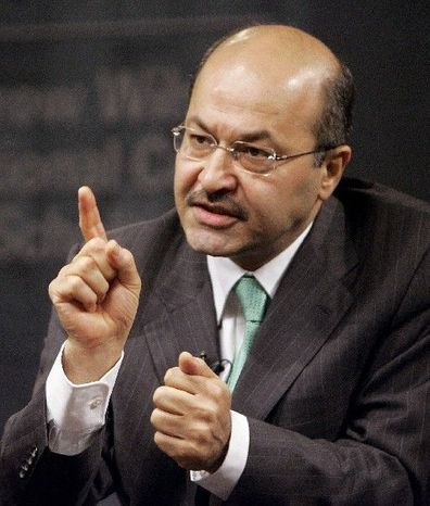 """Barham Salih, prime minister of the Kurdistan Regional Government, says a democratic,  federal Iraq """"may well represent a very viable option for the Kurds of Iraq."""" (Associated Press)"""
