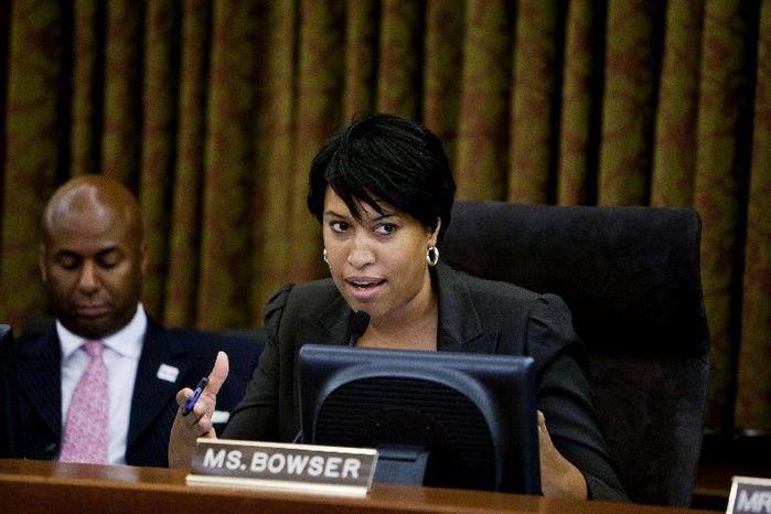 D.C. Council member Muriel Bowser (T.J. Kirkpatrick/The Washington Times)
