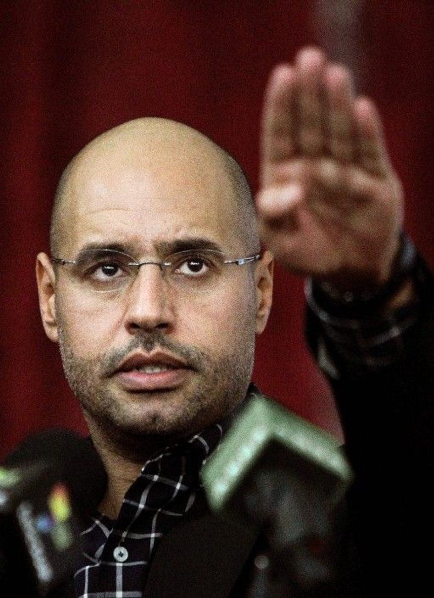 Seif al-Islam Gadhafi, son of the late Libyan leader Col. Moammar Gadhafi, is wanted by the International Criminal Court,  as well as by Libya's new leaders, who overthrew his father's regime. The younger Gadhafi fled the country. (Associated Press)