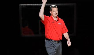 Mark Turgeon advanced to the NCAA tournament in each of his last four years at Texas A&M. (Associated Press)