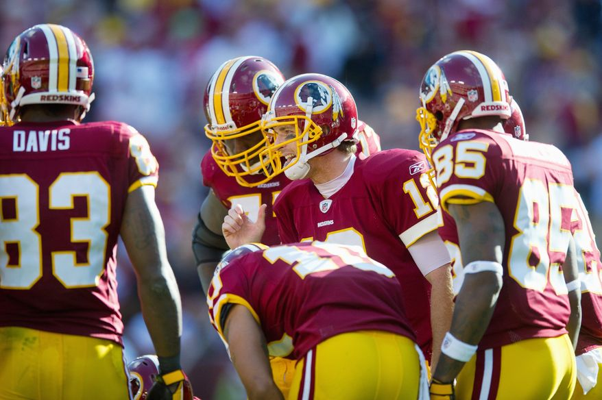 Redskins quarterback John Beck says his focus  is on getting the Washington offense going, not facing the team he began his career with. (Rod Lamkey Jr./The Washington Times)