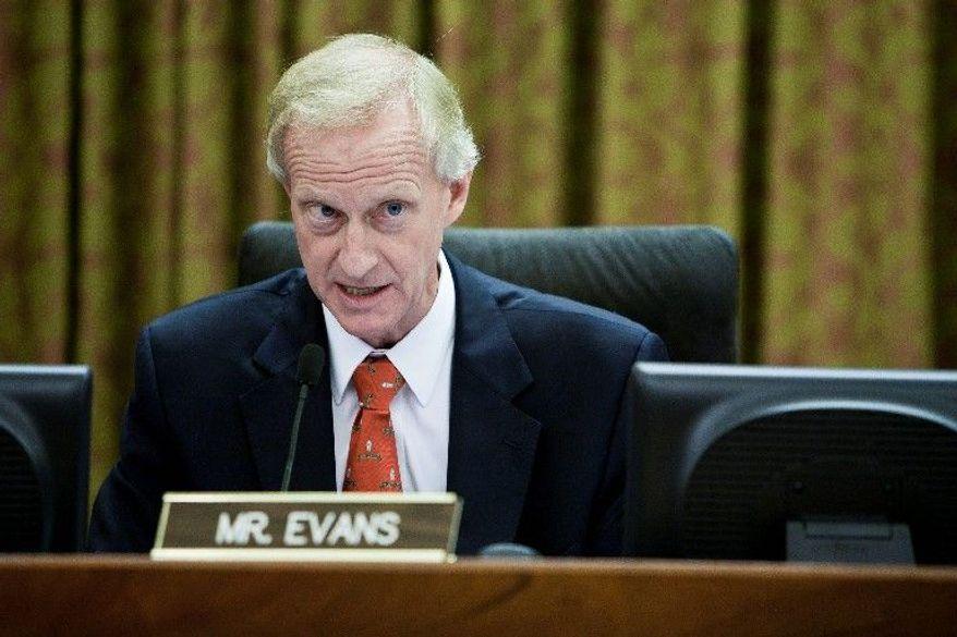 D.C. Council member Jack Evans (T.J. Kirkpatrick/The Washington Times)