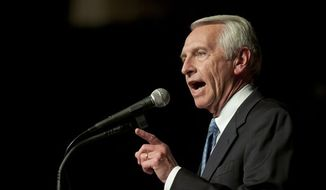 ** FILE ** Kentucky Gov. Steve Beshear makes his victory speech during a election-night rally in Frankfort, Ky., on Tuesday, Nov. 8, 2011. (AP Photo/John Flavell)