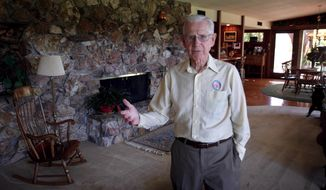 "** FILE ** Cartoonist Bil Keane, creator of the comic ""Family Circus,"" poses in his home in Paradise Valley, Ariz., in June 2006. A spokeswoman for King Features Syndicate, the comic's distributor, said Mr. Keane died on Tuesday, Nov. 8, 2011, at age 89. (AP Photo/East Valley Tribune, Paul O'Neill)"