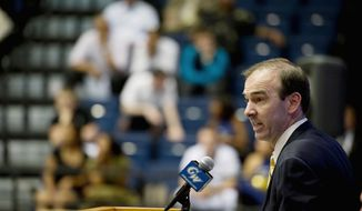 ** FILE ** George Washington coach Mike Lonergan (Rod Lamkey Jr./The Washington Times)