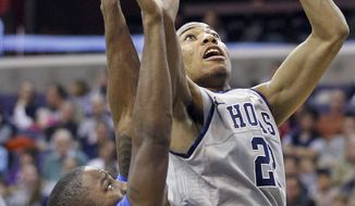 Georgetown's Otto Porter had nine points, eight rebounds, and three blocks against Savannah State on Saturday afternoon. The Hoyas won 83-54. (AP Photo/Haraz Ghanbari)