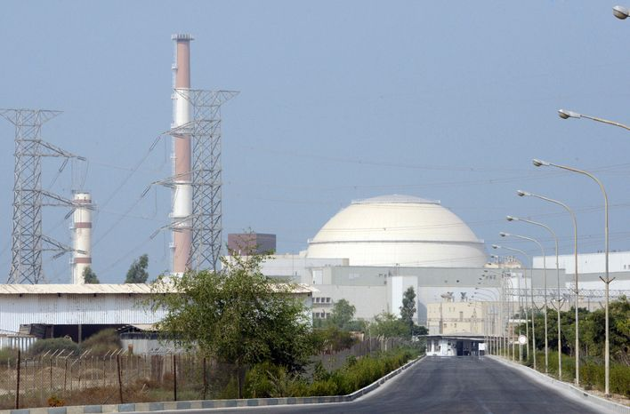 **FILE** The Bushehr nuclear power plant, outside the southern city of Bushehr, Iran, is seen here on Aug. 20, 2010. (Associated Press)