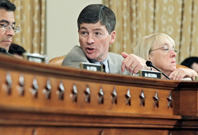"""Rep. Jeb Hensarling is working with 11 others to """"put forth legislation that actually addresses our long-term structural debt."""" (Associated Press)"""