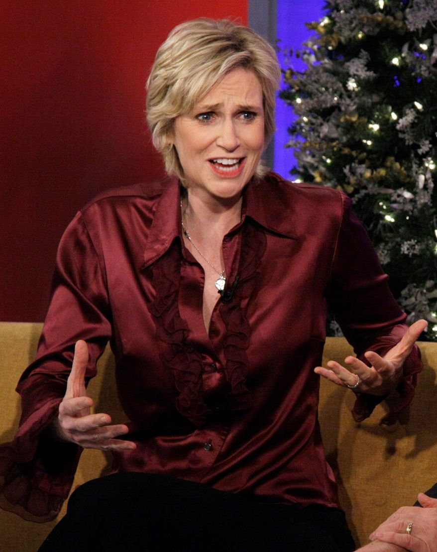Jane Lynch, a longtime comedian and open lesbian, said she found no offense in the gay slur made in jest by director Brett Ratner. (Associated Press)