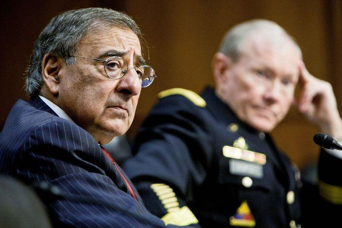 Defense Secretary Leon E. Panetta (left) and Gen. Martin E. Dempsey, chairman of the Joint Chiefs of Staff (The Washington Times)