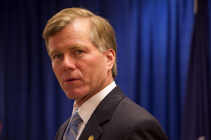 """""""Today's news that the Supreme Court will hear arguments, possibly as soon as March, is reassuring news that we will soon reach finality on this critically important issue,"""" said Gov. Bob McDonnell, Virginia Republican. (Associated Press)"""