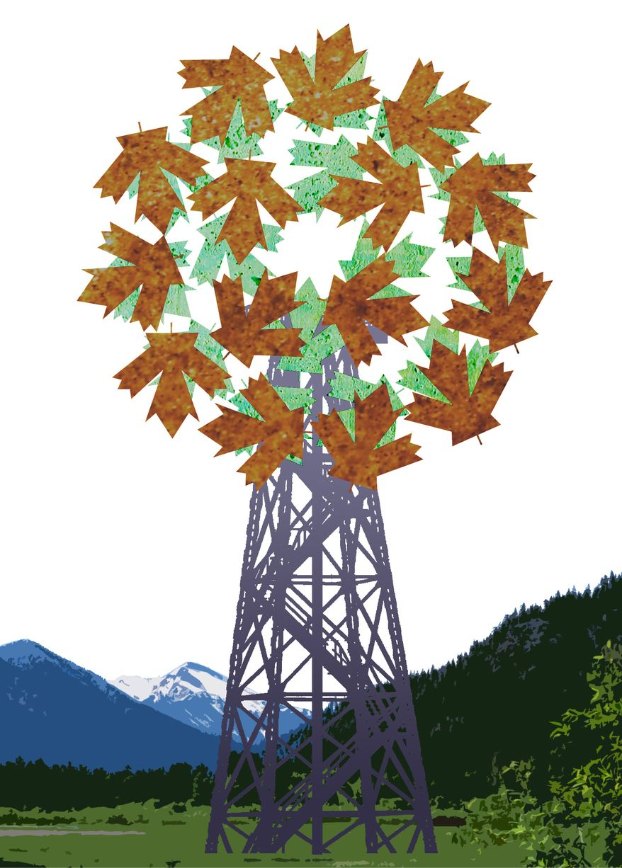 Illustration: Canada reclaim by Greg Groesch for The Washington Times
