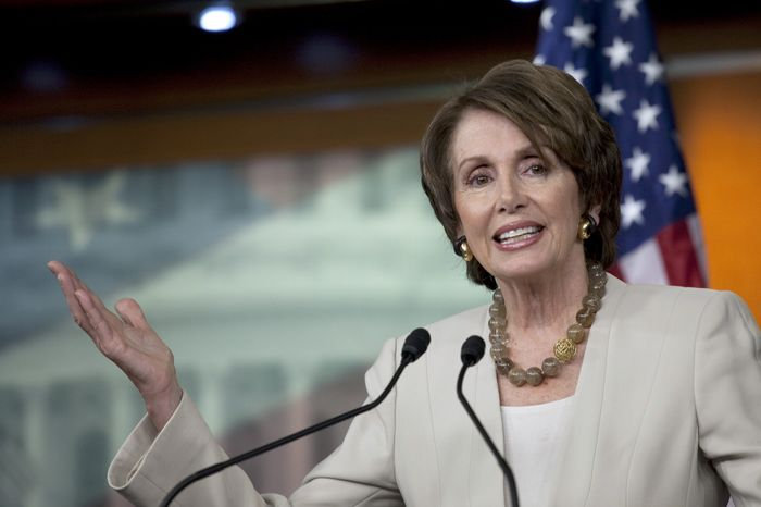 House Minority Leader Nancy Pelosi, California Democrat (Associated Press)