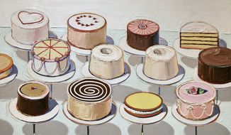 """Cakes"" by Wayne Thiebaud"