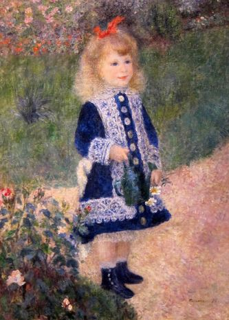 """""""A Girl With a Watering Can"""" by Auguste Renoir"""