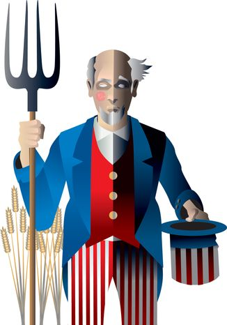 Illustration: Uncle Sam by Linas Garsys for The Washington Times