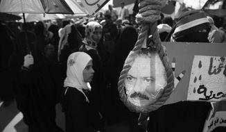 Associated Press. A scene during a demonstration in Sanaa Yemen.