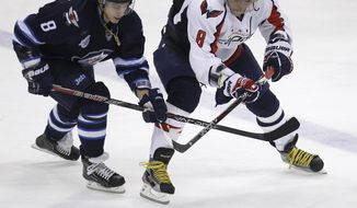Washington Capitals' Alex Ovechkin has two goals and five assists on the power play, but hasn't recorded a point on the man advantage in seven games. (AP Photo/The Canadian Press, Trevor Hagan)