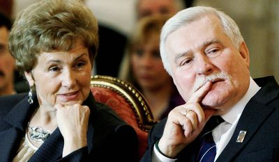 The 42-year marriage of Danuta and Lech Walesa was strained as when his leadership of Poland's Solidarity movement took him away from their family. Mrs. Walesa says in an upcoming autobiography that she paid a huge price for her husband's struggle against communism, talking publicly for the first time about her loneliness and fear for the family's unity as her husband gained worldwide recognition with his political work. (Associated Press)