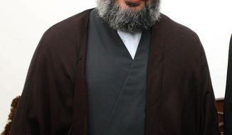 **FILE** Hezbollah leader Sheik Hassan Nasrallah is seen in Beirut on June 2007. (Associated Press/Hezbollah Media Office)