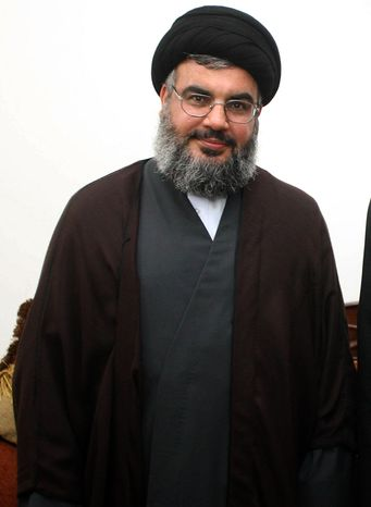 **FILE** Hezbollah leader Sheik Hassan Nasrallah is seen in Beirut on June 2007. (Associated Press/Hezbollah Media Office)