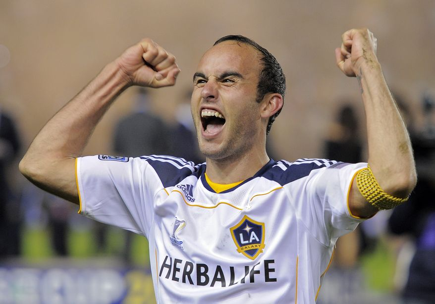 The Los Angeles Galaxy defeated the Houston Dynamo 1-0 to win the MLS Cup on Sunday, Nov. 20, 2011 in Carson, Calif. Landon Donovan had the only goal in the game. (AP Photo/Mark J. Terrill)
