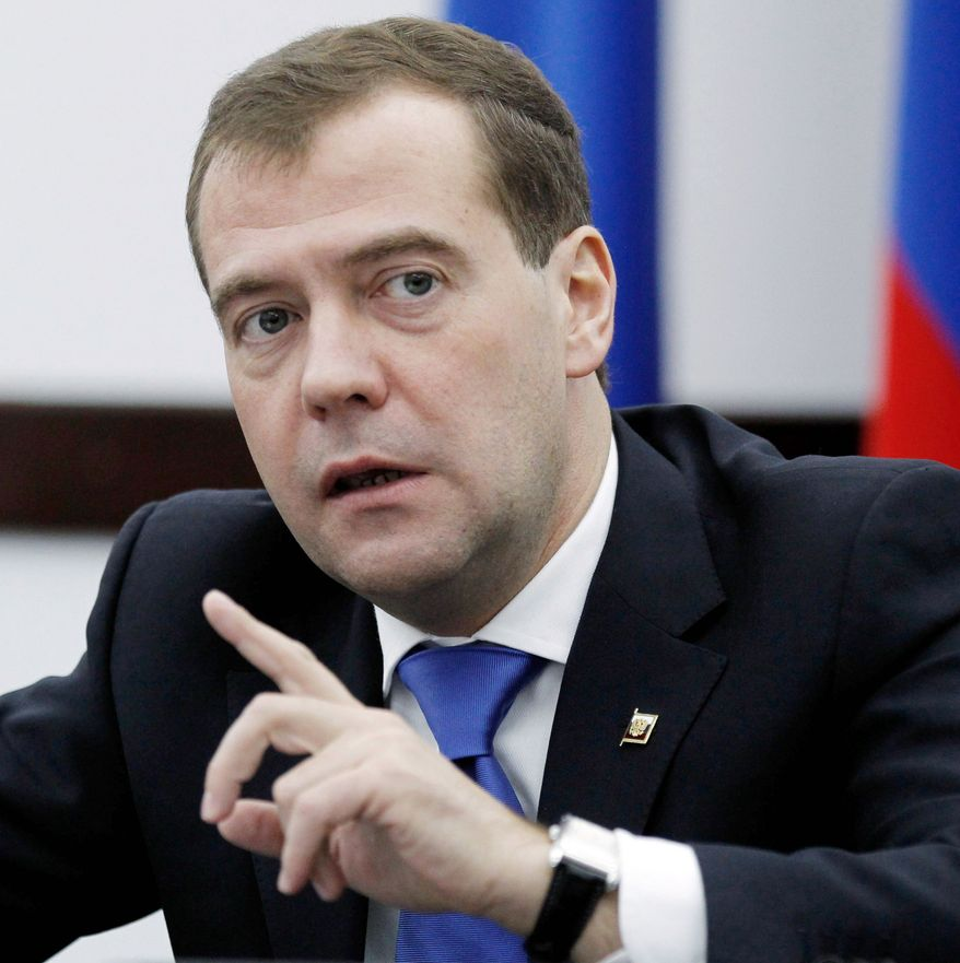Russian President Dmitry Medvedev says his country will aim new missiles at U.S. facilities and allies in Europe in an apparent response to the Obama administration's European phased missile defense plan. (Associated Press)