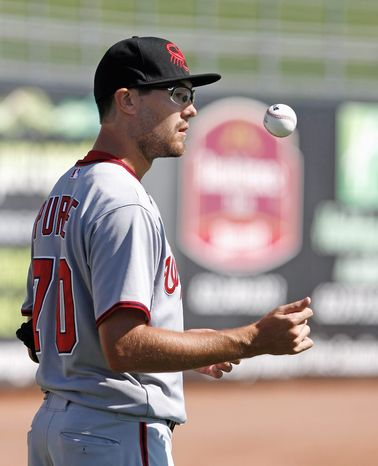 Matt Purke didn't exactly set the baseball world on fire in his first Arizona Fall League start, but the Nationals' left-handed prospect has shown steady improvement. (Rick Scuteri/Special to The Washington Times)
