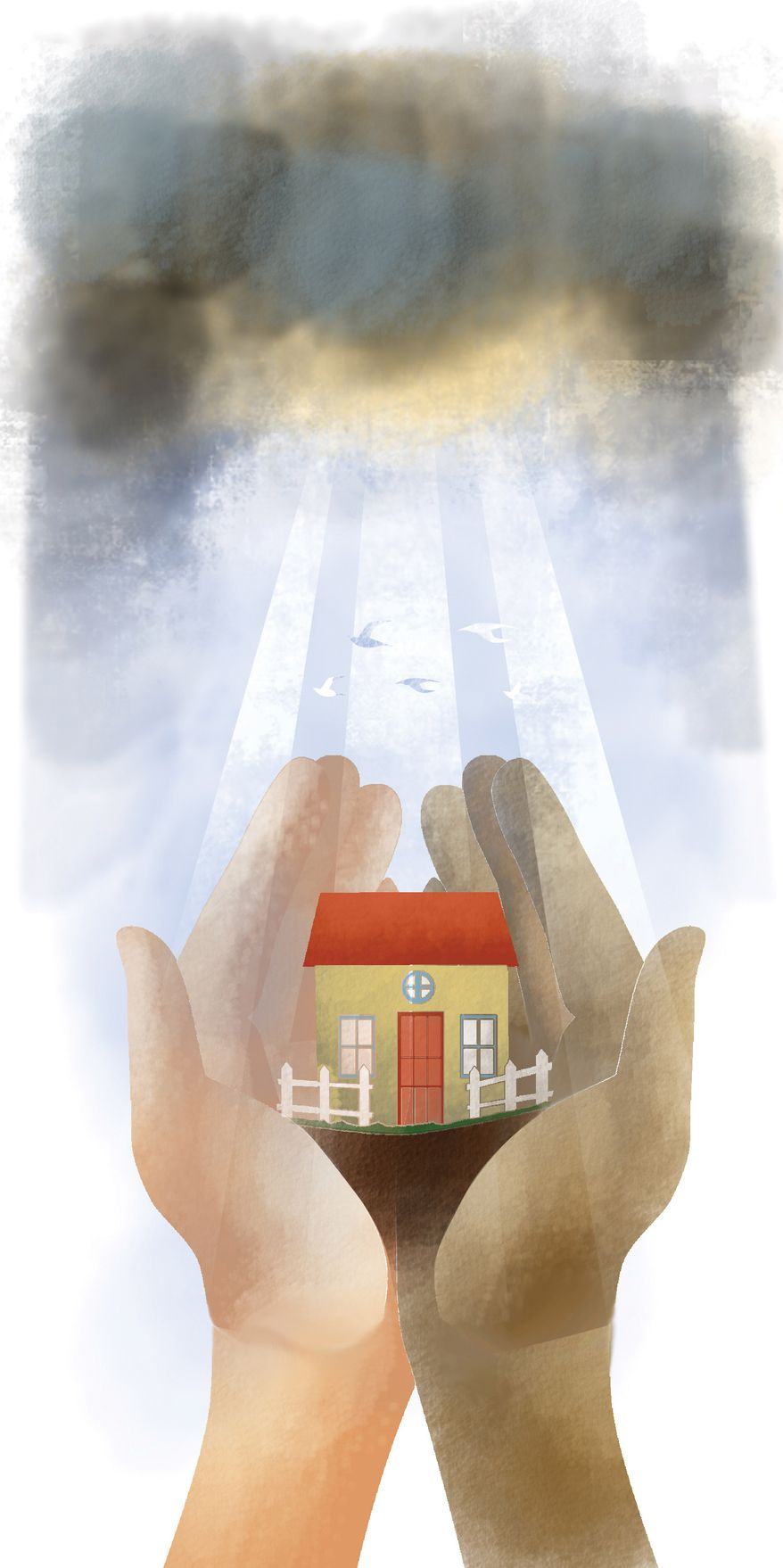 Illustration: Thanksgiving prayer by Linas Garsys for The Washington Times