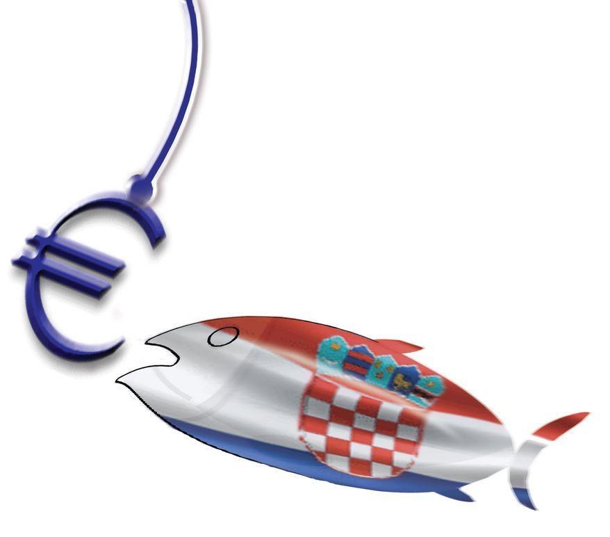 Illustration: Croatia and the EU by John Camejo for The Washington Times
