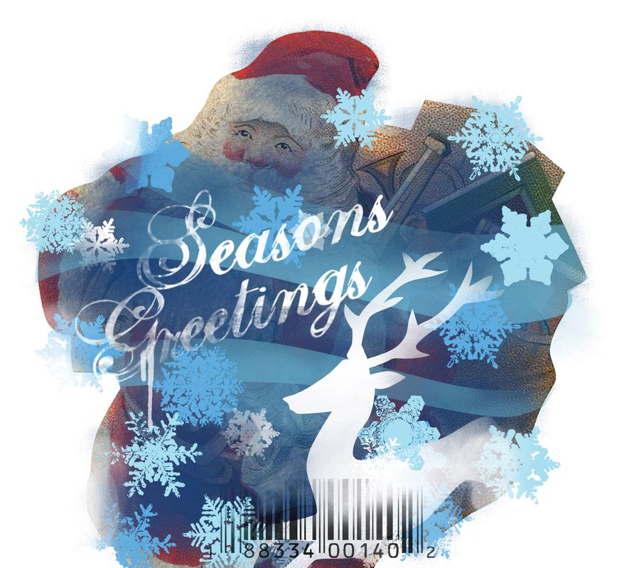 Illustration: Season's Greetings by Linas Garsys for The Washington Times