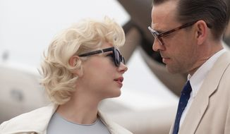 "Michelle Williams stars as Marilyn Monroe in ""My Week with Marilyn."" Dougray Scott plays her husband, playwright Arthur Miller. (The Weinstein Company)"
