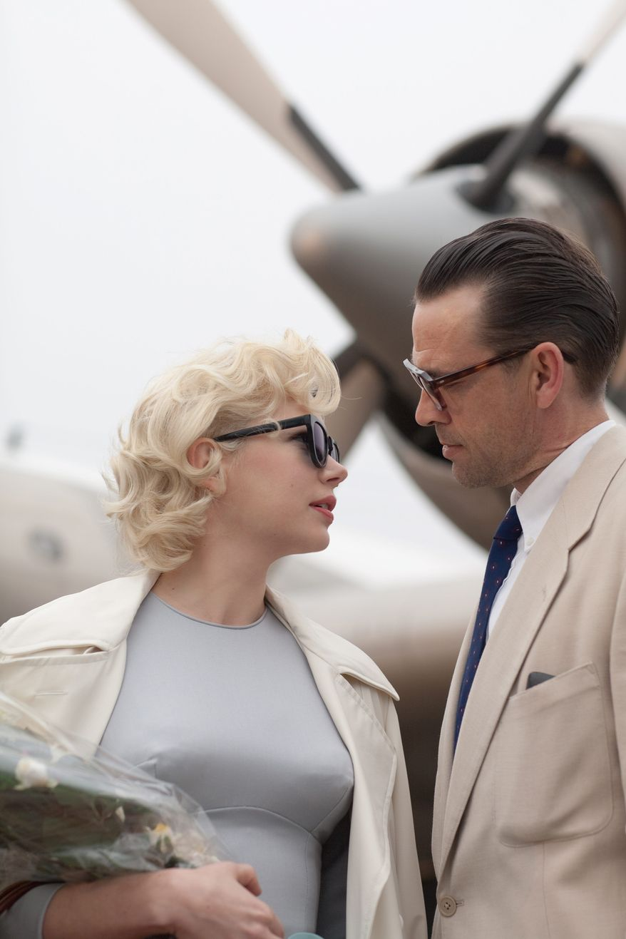 """Michelle Williams stars as Marilyn Monroe in """"My Week with Marilyn."""" Dougray Scott plays her husband, playwright Arthur Miller. (The Weinstein Company)"""