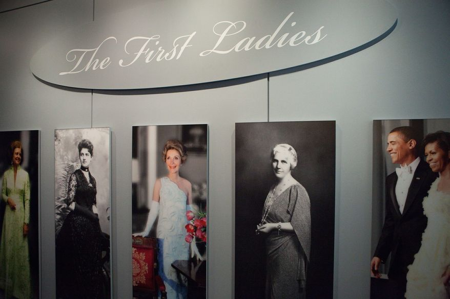 "Gowns worn by American first ladies, long a popular feature at the Smithsonian's National Museum of American History, is part of the new ""First Ladies"" galleries there. The exhibit also focuses on how the presidents' wives have defined and changed that role. (Photo provided by Smithsonian National Museum of American History)"