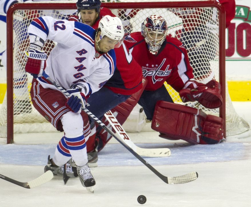 New York Rangers center Artem Anisimov had a goal and an assist in the Rangers' 6-3 win over the Washington Capitals on Friday. (AP Photo/Evan Vucci)