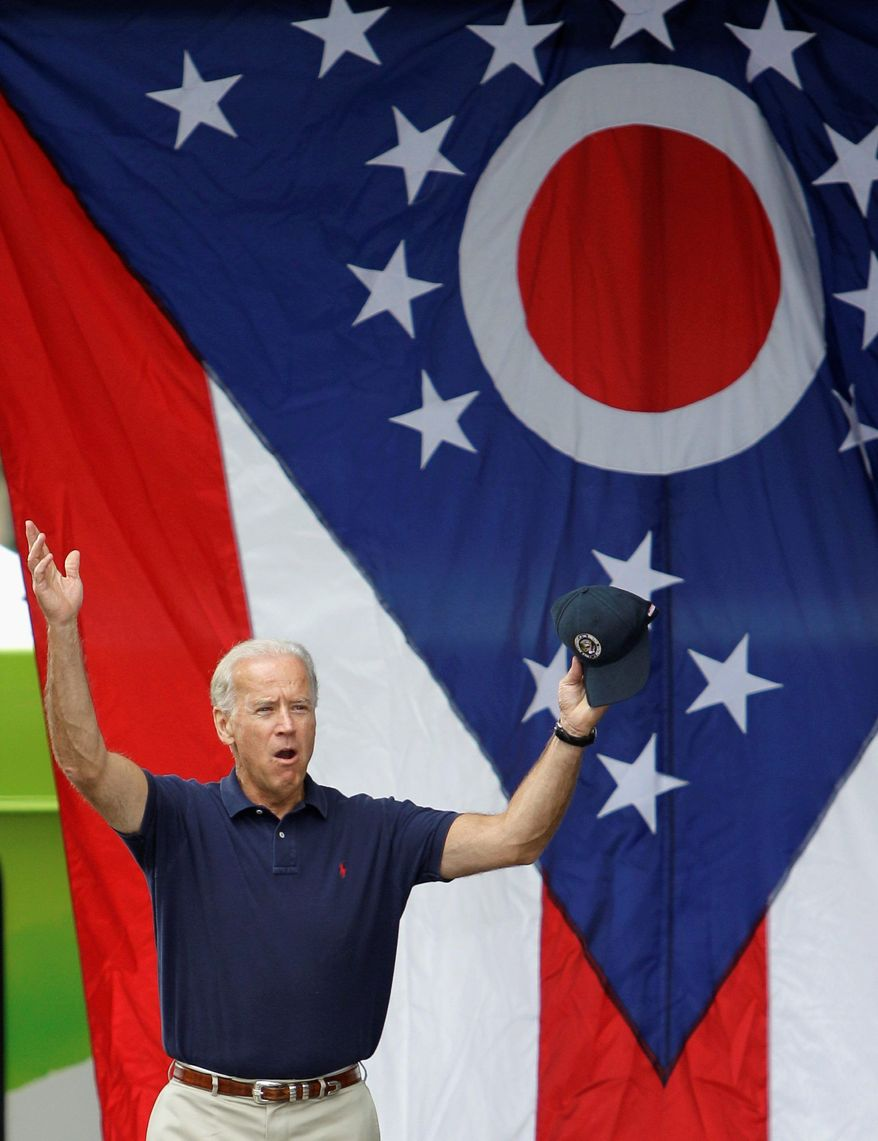 Vice President Joseph R. Biden could be a valuable asset to President Obama's re-election bid as the campaign targets battleground states Ohio, Pennsylvania and Florida. The three states carry 67 electoral votes. (Associated Press)